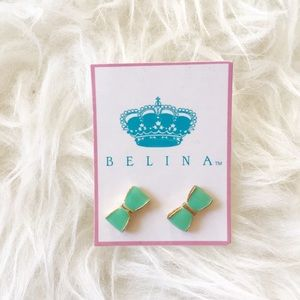 Jewelry - Mint Green Bow Studs